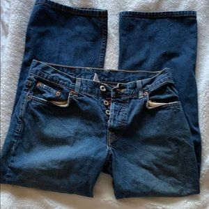 🌺🌺Lucky Brand Easy Rider Button Fly Crop Jeans
